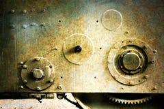 Stary ośniedziały maszynowy narzędzie Fotografia Stock