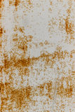 Stary ośniedziały metal ściany bielu kolor żółty Obrazy Royalty Free