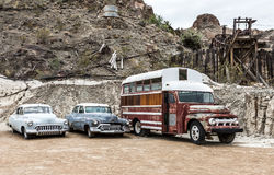 Stary ośniedziały samochód w Nelson Nevada miasto widmo Obraz Royalty Free
