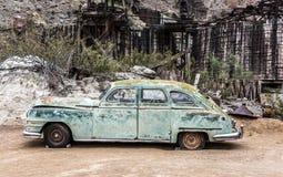 Stary ośniedziały samochód w Nelson Nevada miasto widmo Fotografia Royalty Free