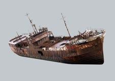 Stary, ośniedziały statek, Zdjęcia Stock