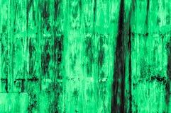 Stary ośniedziały zieleni żelaza ściany tło Zdjęcia Royalty Free