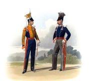 Stary obrazek żołnierze Rosyjski imperium i oficery royalty ilustracja