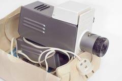 Stary obruszenie projektor w pudełku Zakończenie Obraz Stock
