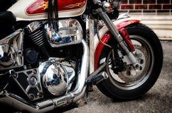 Stary obyczajowy motocykl obrazy royalty free