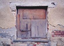 Stary ochraniający okno fotografia stock