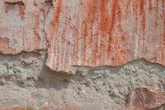 Stary odłupany tynk na betonowej ścianie, tło tekstura zdjęcia stock