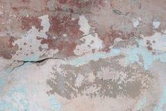 Stary odłupany tynk na betonowej ścianie, tło tekstura fotografia stock