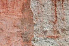 Stary odłupany tynk na betonowej ścianie, tło tekstura obraz stock