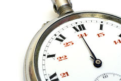 stary odłamki kieszonkowy zegarek fotografia royalty free