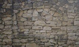 Stary ogrodzenie, robić naturalne kamienne szarość fotografia stock