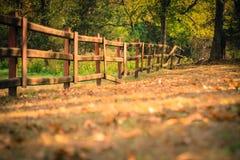 Stary ogrodzenie w jesieni zdjęcie stock