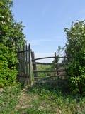 Stary ogrodzenie w wsi Zdjęcie Stock