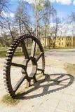 Stary ogromny żelazny cogwheel Fotografia Stock