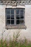 Stary okno i ściana Obrazy Royalty Free