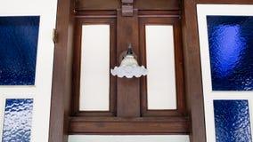 Stary okno i lampa Fotografia Royalty Free