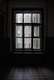 Stary okno na lądowaniu Obraz Royalty Free