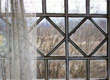 Stary okno na werandzie obrazy stock