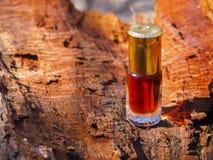 Stary olej od sandałowych drzew i agarwood Indianin koncentrujący pachnidło Fotografia Stock
