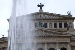 Stary opera budynek w Frankfurt zdjęcia royalty free