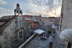 Stary ortodoksyjny kościół przy zmierzchem dubrovnik Chorwacja Zdjęcie Stock