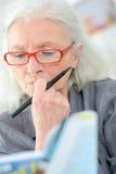 Stary ostatni robi crossword zdjęcia royalty free