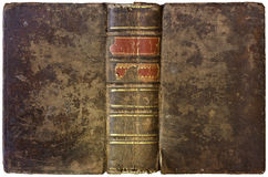 Stary otwiera książkę 1750 Fotografia Stock