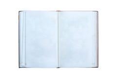 Stary otwiera książkę odizolowywającą zdjęcie royalty free