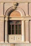 Stary ozdobny okno fotografia stock