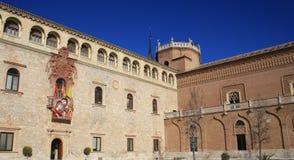 STARY pałac W ALCALA DE HENARES Fotografia Royalty Free