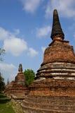 stary pagodowy phra sanphet sri wat Obraz Royalty Free