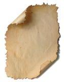 stary papier białe tło Fotografia Stock