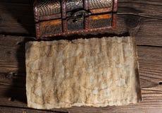 Stary papier na drewnie ilustracja wektor