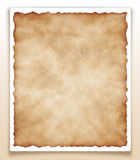 Stary papier odizolowywający na białym XXL Obraz Royalty Free