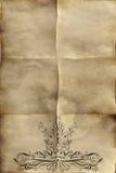 stary papier pergaminowy. Obraz Stock