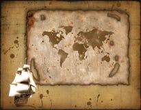 stary papier rejsów statku Zdjęcia Stock