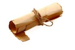 stary papier rollled się Zdjęcia Stock