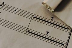 Stary papier, szkotowa muzyka, tekstura Fotografia Royalty Free