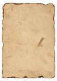 Stary papier z burnt krawędziami Obrazy Royalty Free
