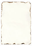 Stary papier z burnt krawędziami fotografia stock
