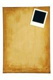 Stary papier z pustą fotografii ramą Fotografia Royalty Free
