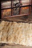 Stary papier z rocznik klatką piersiową ilustracji