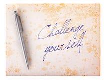 Stary papierowy grunge tło - wyzwanie yourself zdjęcie royalty free