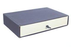 Stary papierowy pudełko odizolowywający na biały tle Obraz Royalty Free