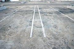 Stary parking Zdjęcie Royalty Free