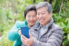 Stary pary selfie szczęśliwie fotografia royalty free