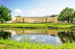 Stary piękny budynek w Aleksander parku Zdjęcia Royalty Free