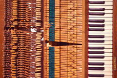 Stary pianino Zdjęcia Royalty Free