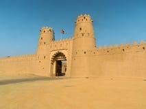 Stary piaskowcowy fort w Zjednoczone Emiraty Arabskie Obraz Royalty Free
