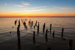 stary pier Fotografia Royalty Free